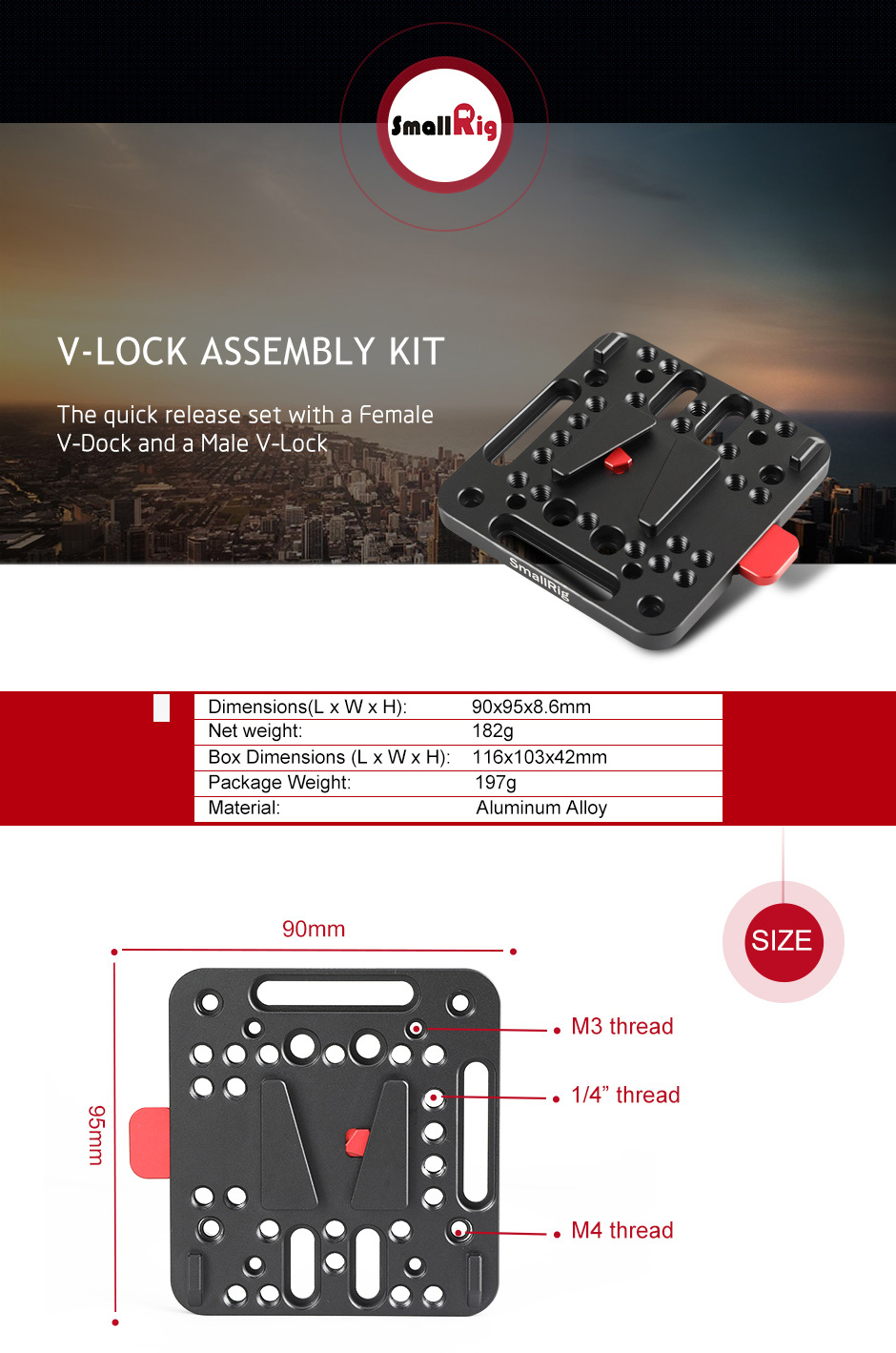 v-lock assembly kit 1846
